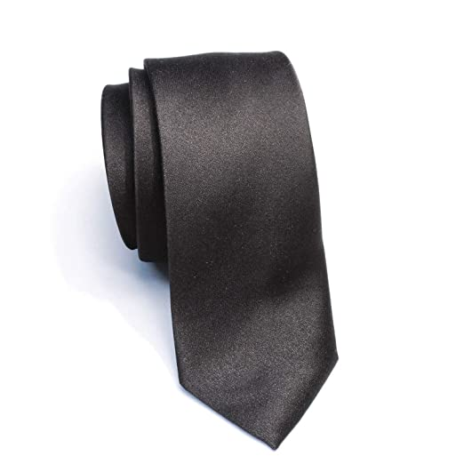 08dd87b96d10 Image Unavailable. Image not available for. Color: New Skinny Solid Black 2  Inch Necktie ...