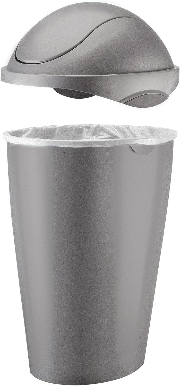 Umbra, Nickel Swinger 12-Gallon Swing-Top Waste Can