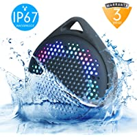 AVWOO Colorful Lights Changing Waterproof Wireless Shower Speaker