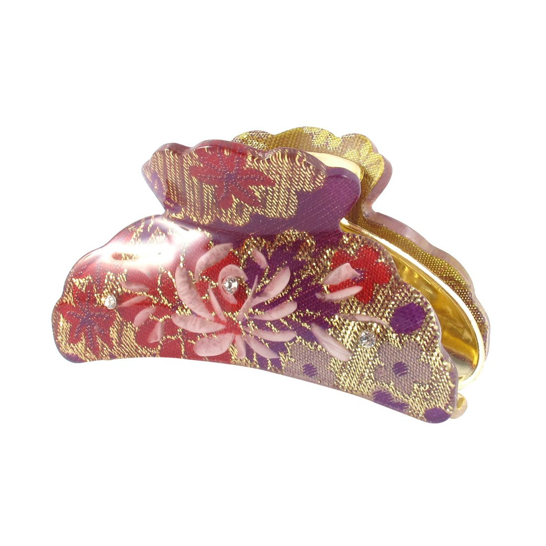 Sourcingmap Kunststoff Frau Clamp Zähne Design Hair Clip Claw 8, 9 cm Länge Purple 9 cm Länge Purple a15020600ux0087