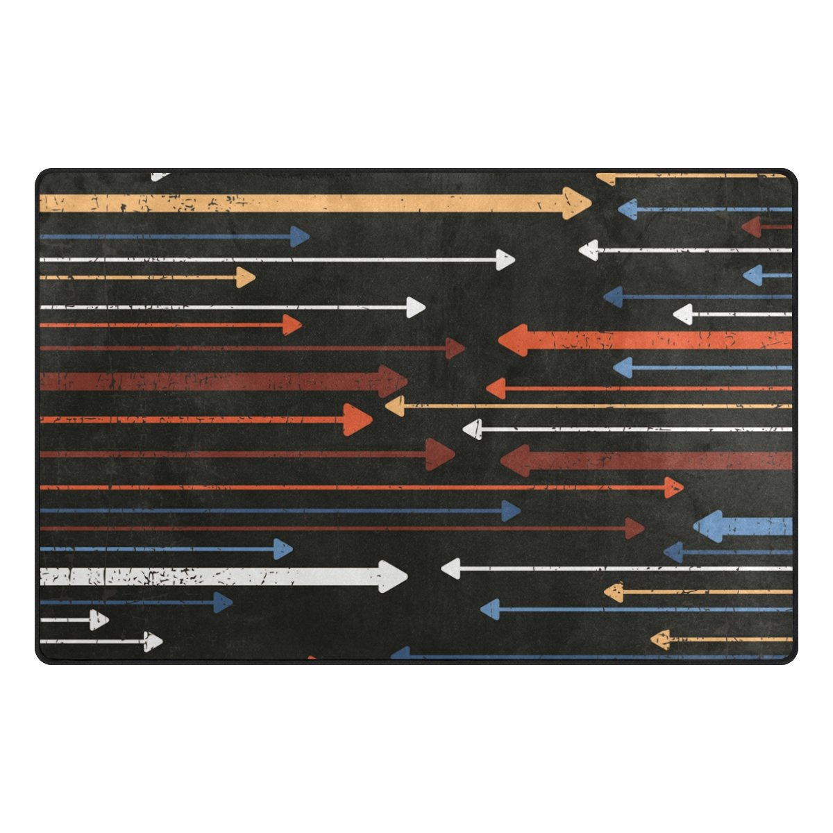 Bennigiry Vintage Multicolor flechas Rango Alfombra antideslizante Diario de DF920felpudos para salón dormitorio 78,7x 50,8cm, poliéster, multicolor, 31 x 20 inch