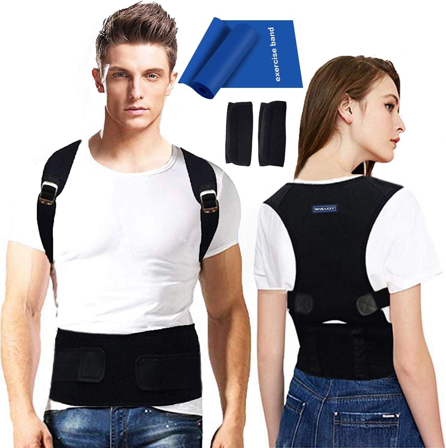 Back Brace Posture Corrector for Men - Medical Posture Brace for Women - Best Adjustable Back Corrector Provides Lumbar Support - Lower & Upper Back Pain Relief