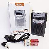 Mini Rádio de Bolso AM/FM/SW LE-650- Lelong + 2 Pilhas
