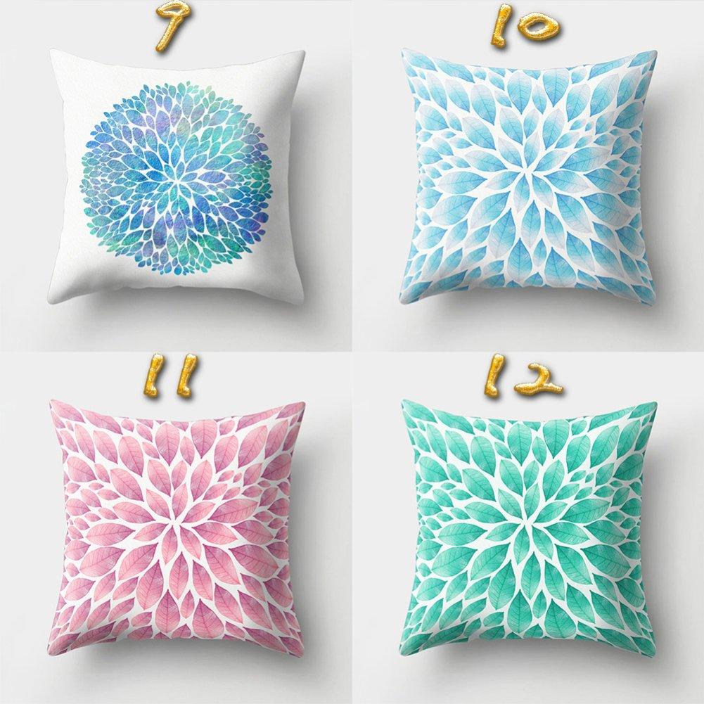 1# Cama 16 Colores Sukisuki Dise/ño Estampado Talla /única Funda de Coj/ín para sof/á