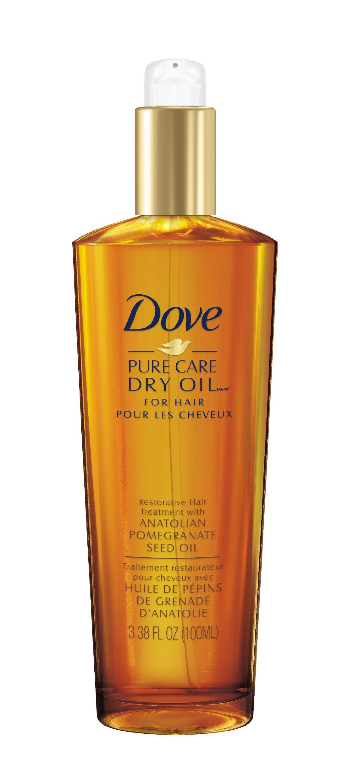 Dove Dry Oil, Pure Care Restorative Hair Treatment 3.38 oz (100ml)