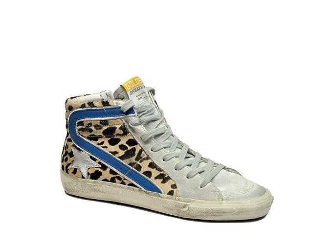 Golden Goose - Zapatillas de piel para mujer LEOPARDO 37: Amazon.es: Ropa y accesorios
