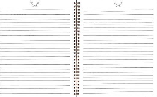 Lauren /& Johnny 7004 Customizable Wirebound Notebooks 0.5 x 8.63 x 10.5 Inches,