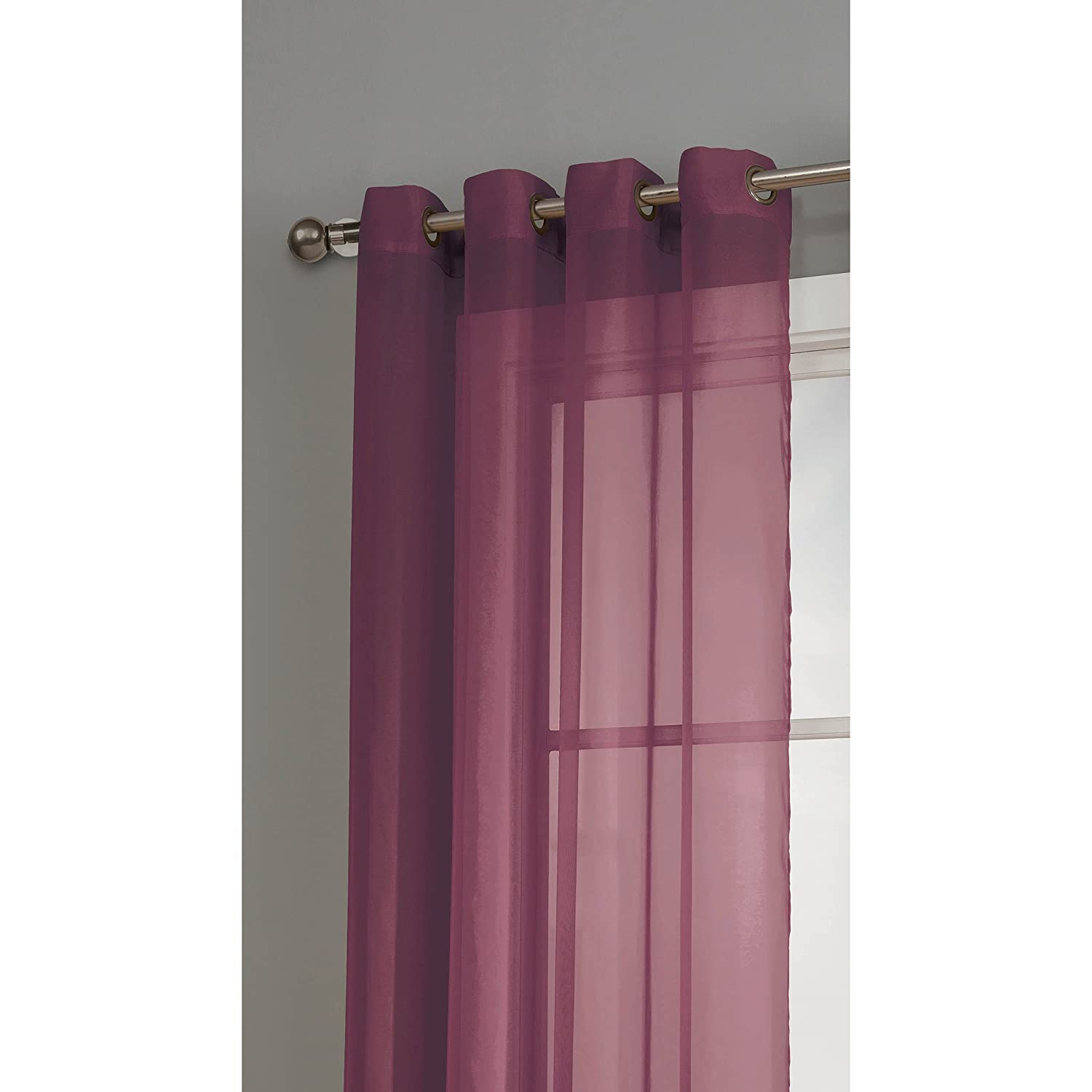 Window Elements Sheer Voile Grommet Extra Wide 54 X 84 In Curtain