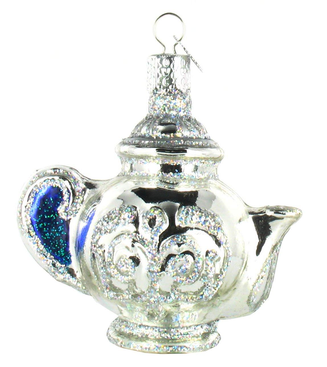 Amazon.com: Old World Christmas Teapot Glass Ornament: Home & Kitchen
