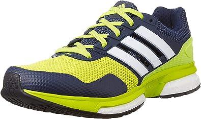 adidas Response Boost 2 M - Zapatillas para Hombre, Color Lima/Blanco/Azul Marino, Talla 40: Amazon.es: Zapatos y complementos