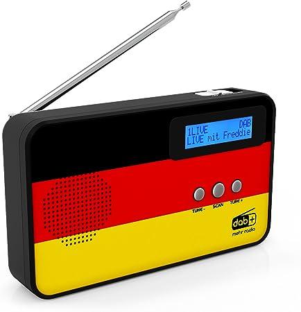 Sky Vision Dab Radio 100 Kleines Digitalradio Dab Plus Mini Tragbar Mit Länderflaggen Motiv Heimkino Tv Video