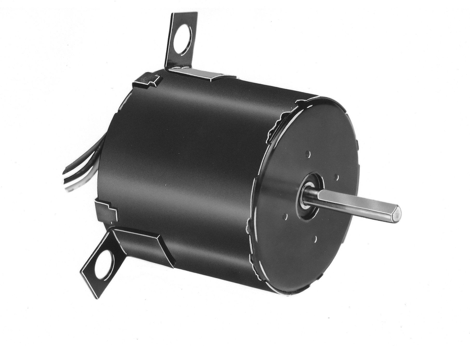 Fasco D1189 3.3'' Frame Totally Enclosed Shaded Pole OEM Replacement Motor withBall Bearing, 1/20HP, 1550rpm, 115/208-230V, 60Hz, 1.4-0.76 amps