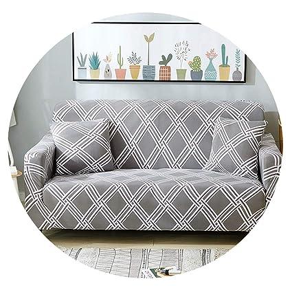 Forever Long Funda de sofá elástica a Cuadros para Sala de ...