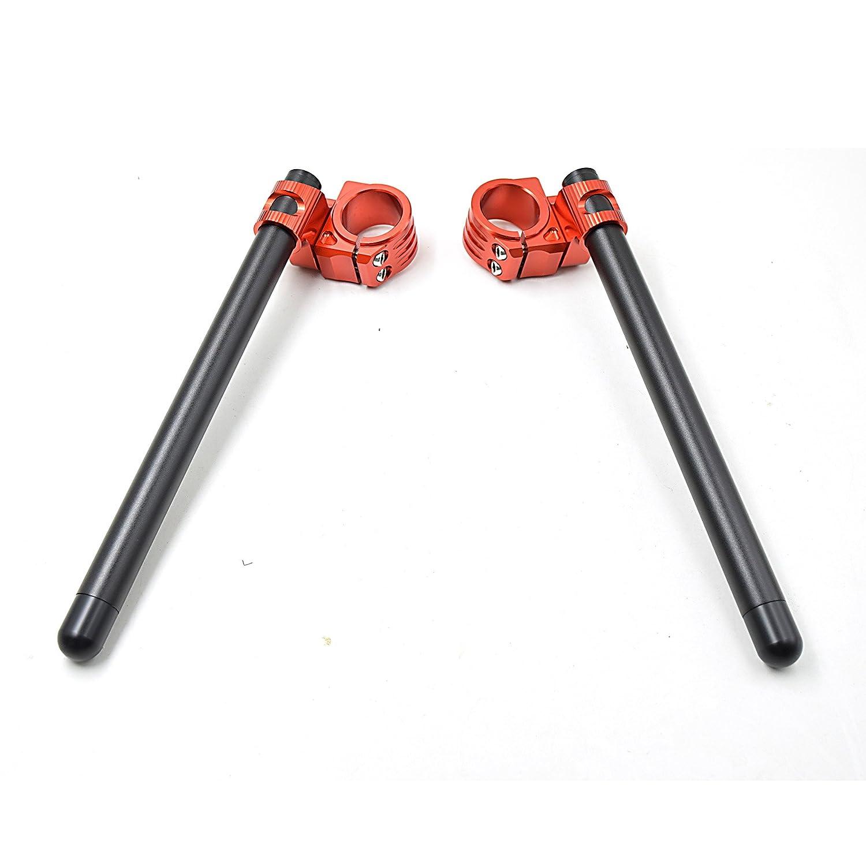 Aluminio Kit semimanillares moto 45mm para CBR600RR 03-04//CBR900RR 93-99//RC30//GSX-R600 97-03//Speed Triple 97-04 universal Tenedor /Ø 45MM semimanillares racer caf/é /Ángulo 8 /° tubos 22MM color Negro