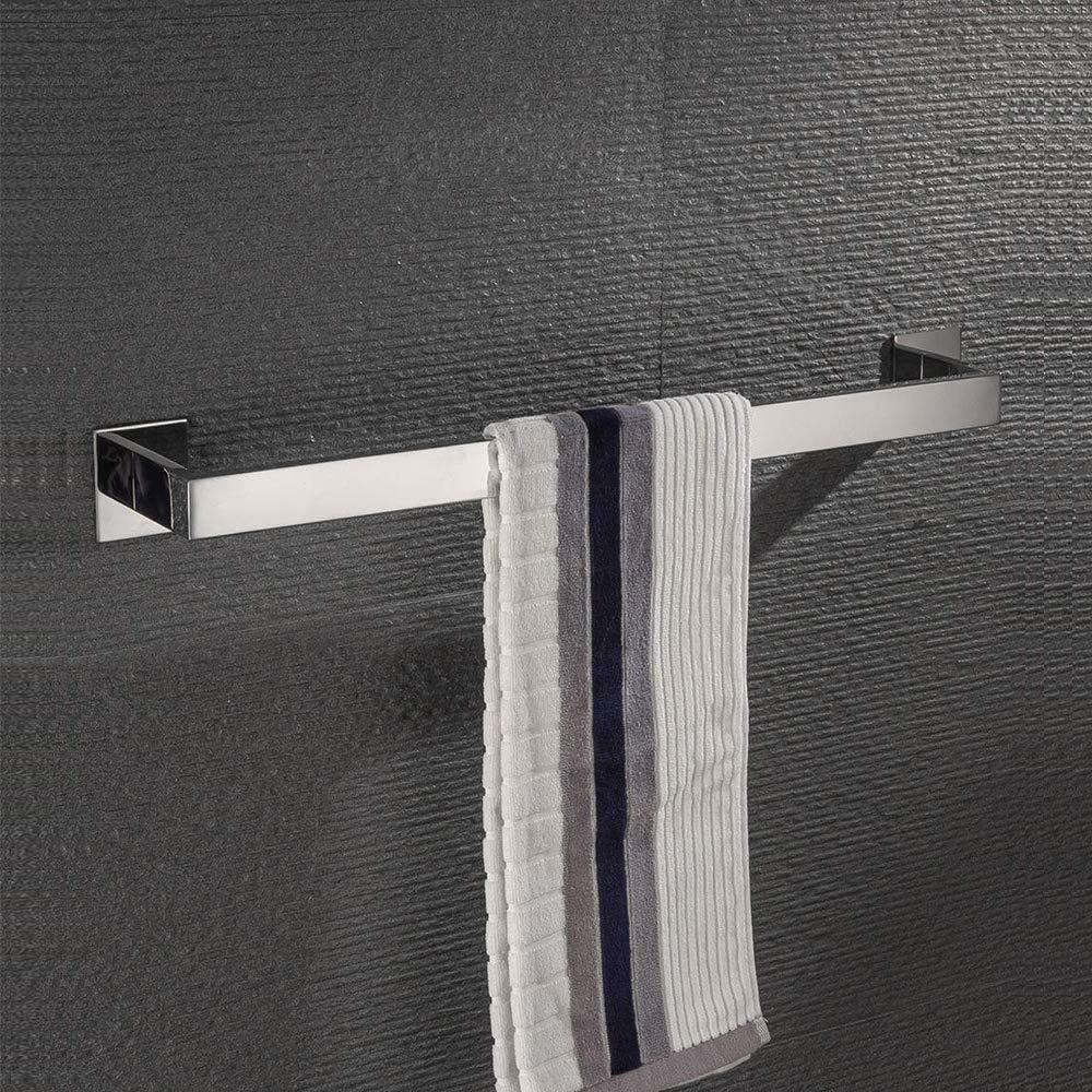 Homovater SUS 304 Acciaio Inossidabile Asciugamano Barre Portasciugamani Acrilico Autoadesivo Senza Vite Lucidato Bagno Accessori Di Montaggio,Finitura Spazzolata,30cm