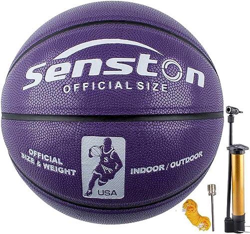 Senston Women's Basketball Size 6, Glow in The Dark Basketball Ball for Girls Womens, Luminous Basketballs 28.5 with Pump
