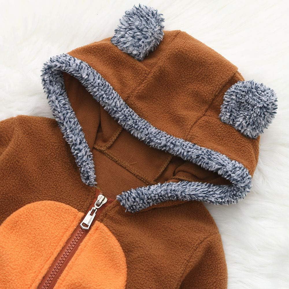 BeautyTop Baby Unisex Langarm Tier Overall Baby Herbst und Winter Pl/üsch Outfit Strampler mit Kapuzen Baby M/ädchen Jungen Cute Kinderkleidungset