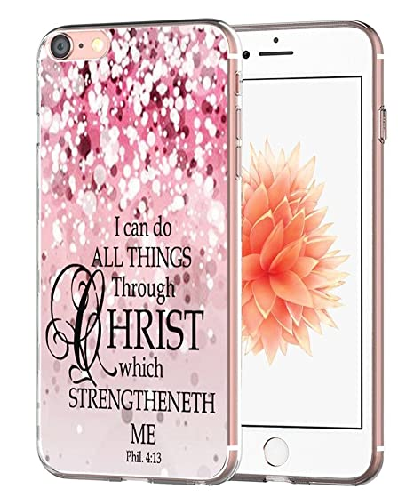 the best attitude 6ee68 21725 Case for iPhone 7 Bible Verse Protective - Case for iPhone 8 - Topgraph  [Exact Slim Fit Clear with Design Full Coverage] Bumper Compatible for  iPhone ...