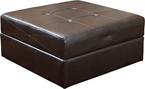 Christopher Knight Home Burlington Leather Storage Ottoman