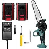 Romacci Mini serra de poda elétrica portátil de duas baterias de 21V Mini serra elétrica recarregável de divisão de madeira p