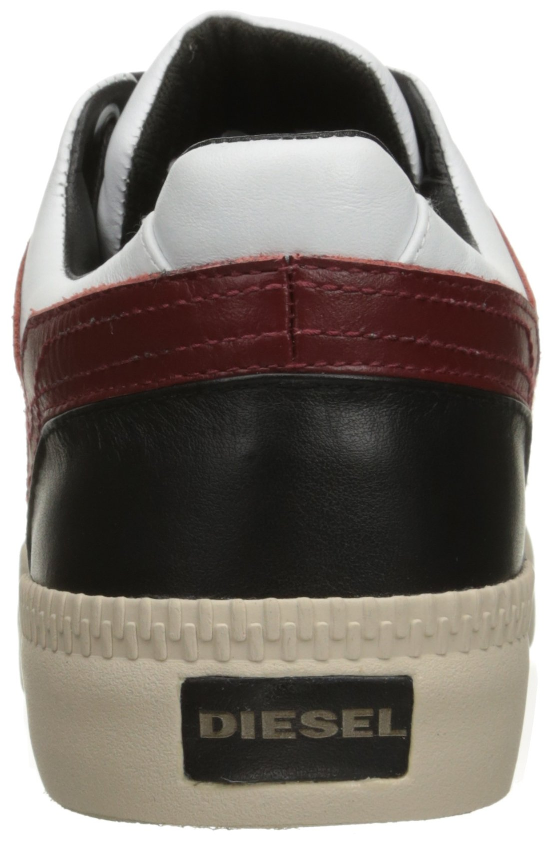 Diesel Men's V S-Spaark Low Fashion Sneaker, Black/White/Biking Red, 10.5 M US by Diesel (Image #2)