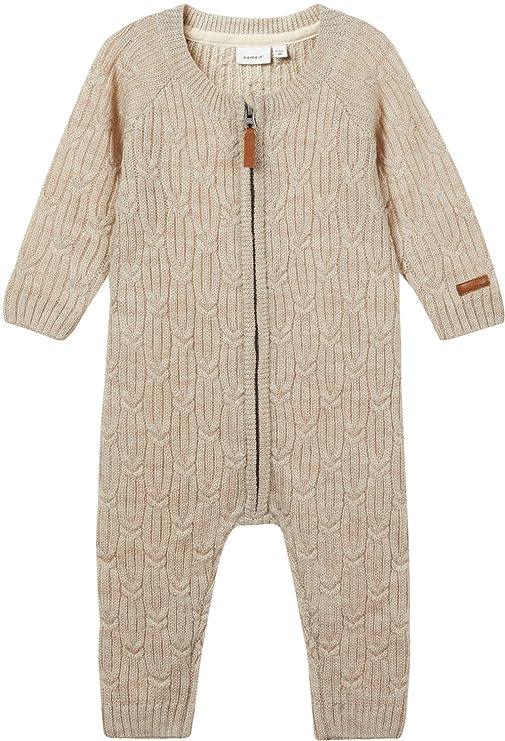 Name it Baby Strickschuhe NBNWRUNI natur aus Merino-Wolle warm Winterschuhe