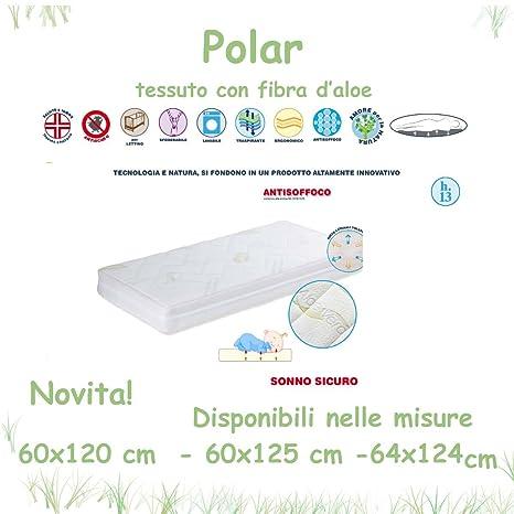 Colchón de Cuna Polar con tela de Aloe Willy & Co. Alto 13 cm 60x125