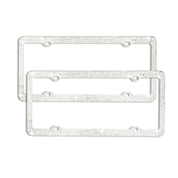 Amazon.com: 2 Pack Crystal Clear Rhinestone Triple Row Silver Metal ...