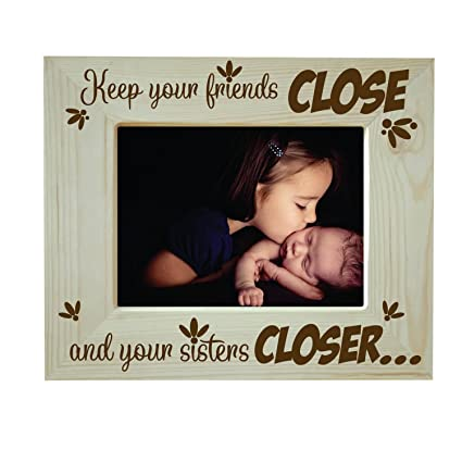 YaYa CafeTM Bhaidooj Birthday Gifts For Sister Photo Frame Table Keep Sisters Closer Engraved
