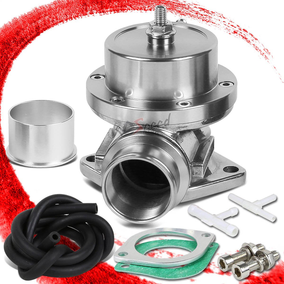 Type-S Style Universal 40mm Turbo Blow Off Valve+2.5 Flange Pipe Red