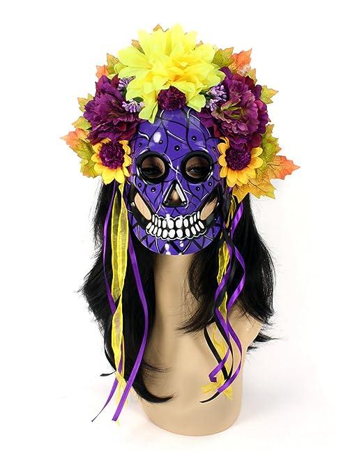 Amazon.com  Women s Day The Dead Mask Flower Crown 9c82406fff4