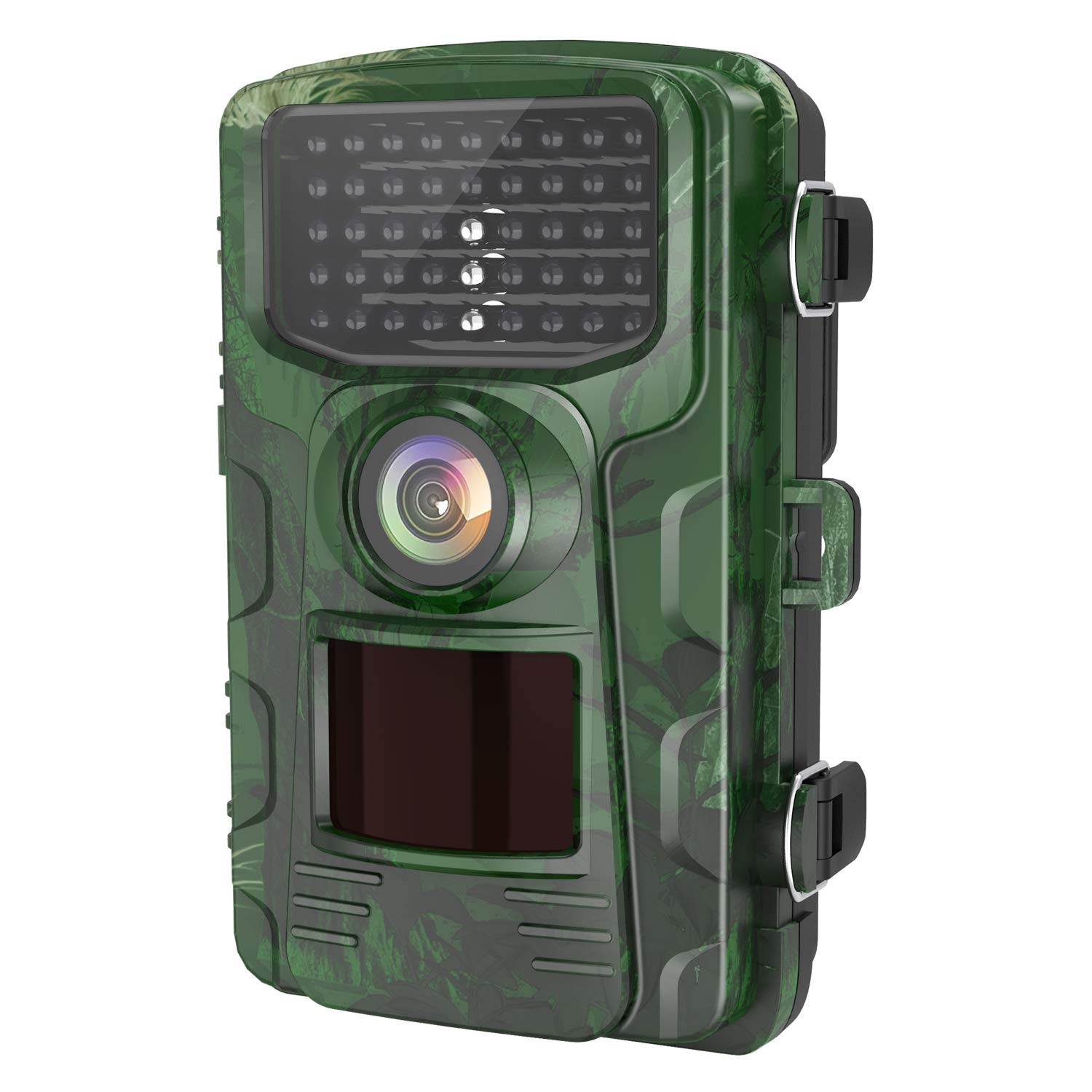 LETSCOM Trail Game Camera 14MP, IP65 Waterproof Wildlife Scouting Hunting Cams, 0.4s Trigger Speed, 42 Low Glow IR LEDs, 120° Wide Angle (Green)