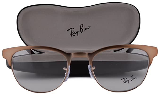 faecb1c73b Image Unavailable. Image not available for. Colour  Ray-Ban RX6317  Eyeglasses 49-20-140 Matte Brown 2836 RB6317 RX 6317