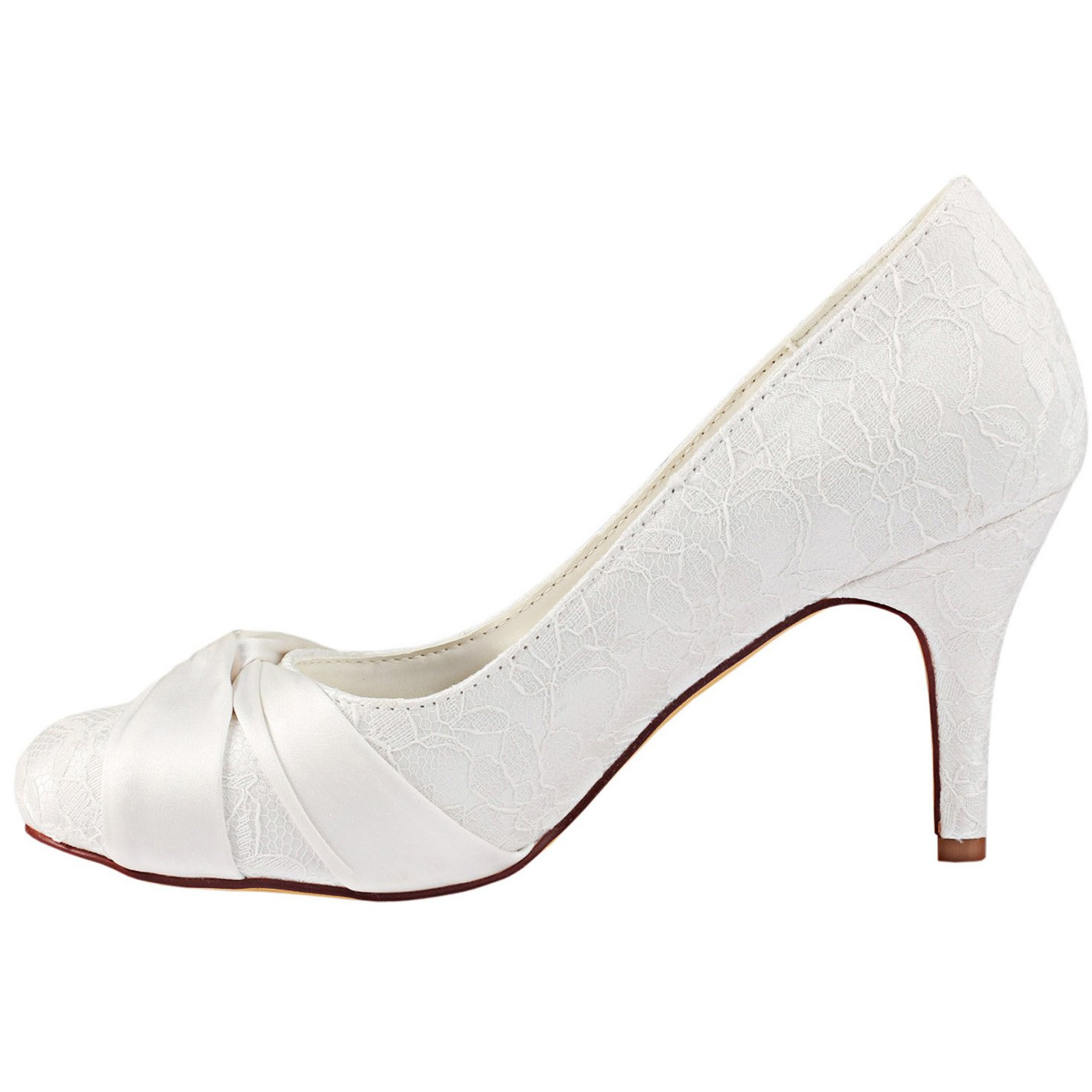 Emily Emily Emily Bridal Scarpe da Sposa Chiusura con Cinturino in Raso  bianco 52ce18