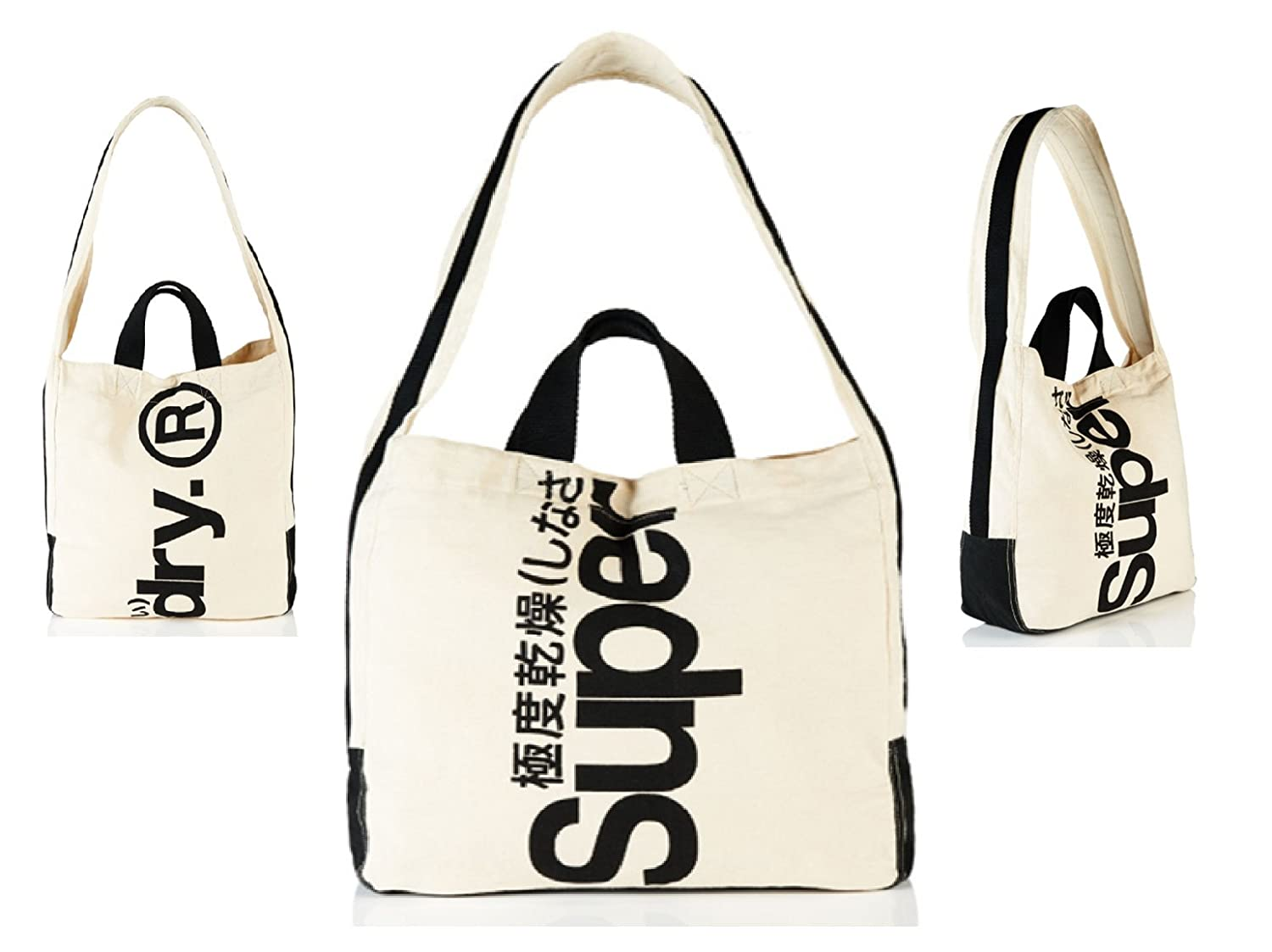 bfaa41ec84c4 Superdry Womens Canvas Tote (Cream Calico)  Amazon.co.uk  Shoes   Bags