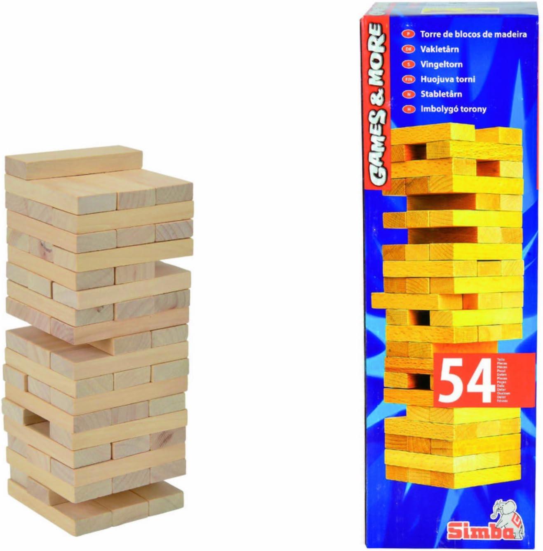 Simba 106125033 Games & More - Torre de Bloques de Madera [Importado de Alemania]: Amazon.es: Juguetes y juegos