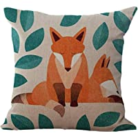 Clearance Sale! WYTong Novelty Fox Cushion Cover Decorative Pillow Case Sofa Bed Throw Euro Sham