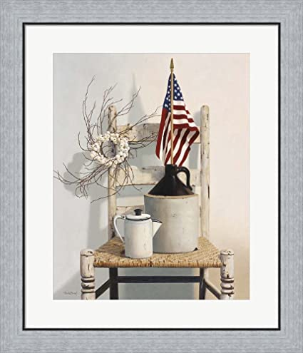 Amazon.com: Chair With Jug And Flag by Cecile Baird Framed Art Print ...