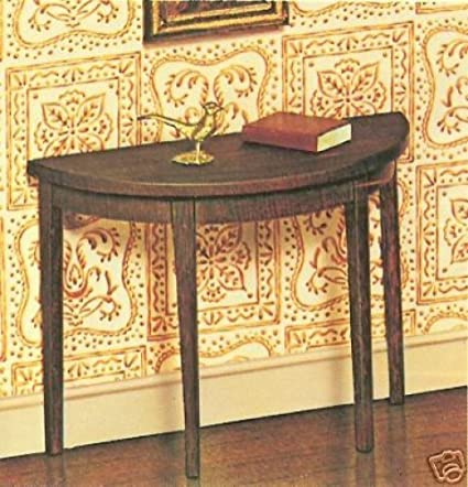 Amazon.com: The House Of Miniatures Hepplewhite Side Table Wooden ...