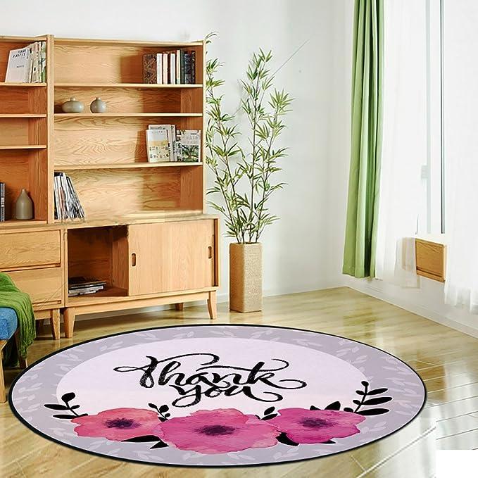 Alfombra redonda con estampado, decoración moderna, habitación con ...
