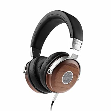 SIVGA Wood Open Back Auriculares con auriculares con micrófono y control de volumen, auriculares de