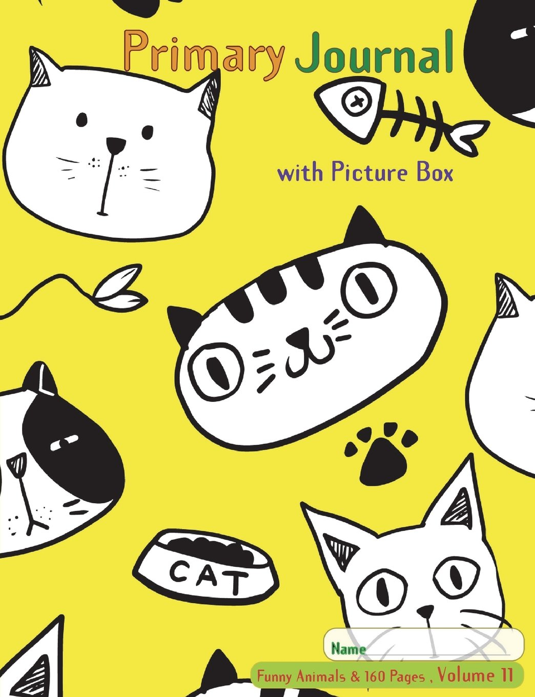 Download Primary Journal with picture box: Half page ruled, Grades K-2, Picture story block, (Volume 11) of funny animals &160 pages series; Improve creative ... 7.44 x 9.69 Inches ,160 pages (80 Sheets) pdf epub