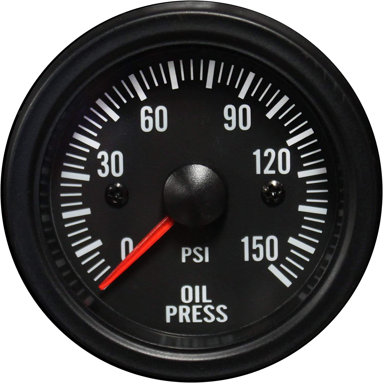 2 1//16 Waterproof Electrical White LED Performance Series 52mm Oil Pressure Gauge