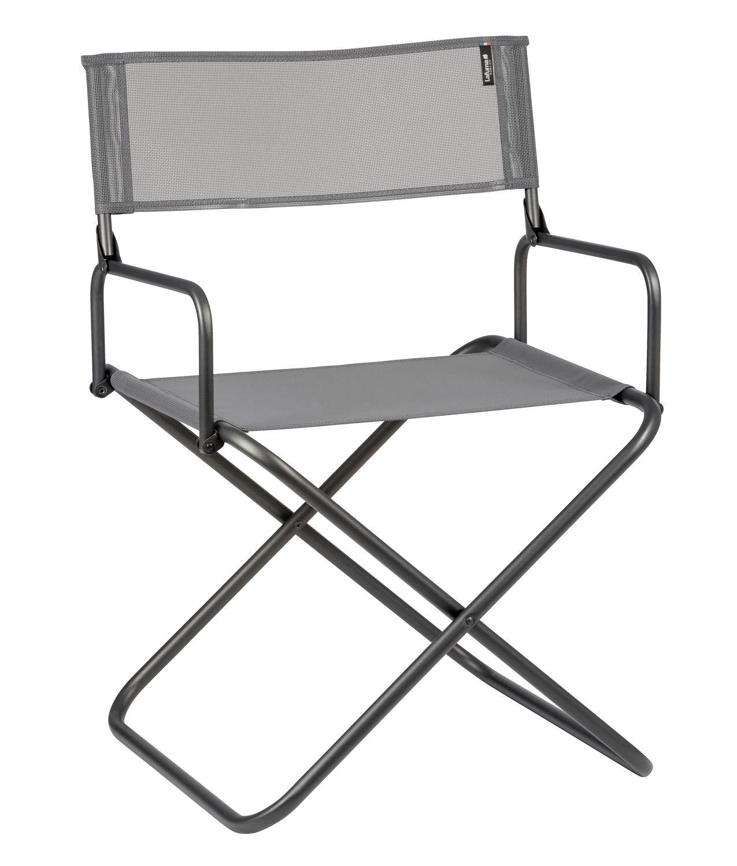 Lafuma Silla de camping, Plegable, compacta, Con reposabrazos, FGX XL, Texplast, Color: Silex, LFM2835-8544