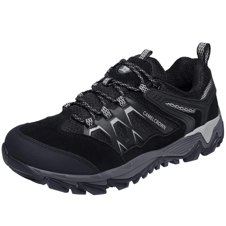 CAMEL CROWN Zapatos de Senderismo Hombres Zapatillas Ligeras de Escalada Botas de Trekking al Aire Libre