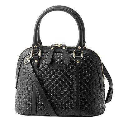 5dc49926cbc Amazon.com  Gucci microguccissima bag black leather 449654 BMJ1G ...