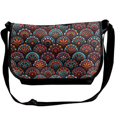 Lovebbag Spiritual Pattern With Arabesque And Geometric Floral Form Art Image Crossbody Messenger Bag