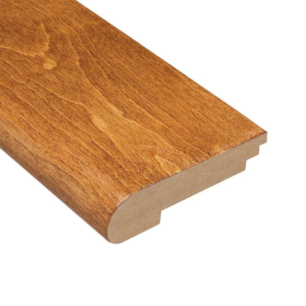 Home Legend Maple Sedona 3/8 in. Thick x 3-1/2 in. Wide x 78 in. Length Hardwood Stair Nose Molding
