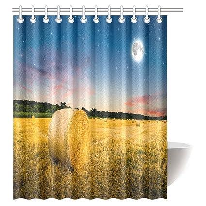 Amazon INTERESTPRINT Farm Yard House Decor Shower Curtain Hay