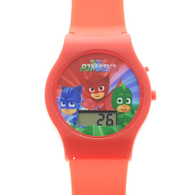 Amazon.com: PJMasks Digital Watch with Printed Band on Blister Card (Assorted Styles): Toys & Games